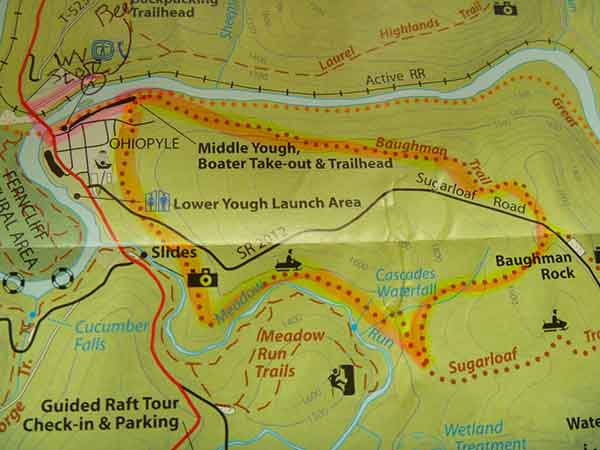 Baughman Trail Map Ohiopyle State Park