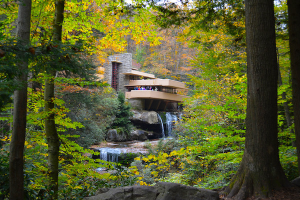 fallingwater autumn trees ohiopyle farmington