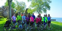 Chesapeake Bike tour group biking