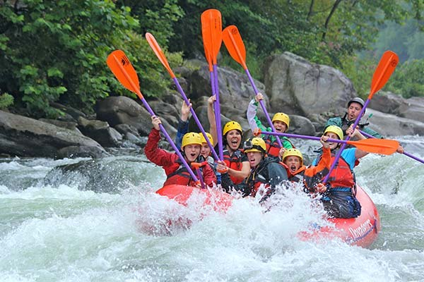 Ohiopyle Rafting high 5