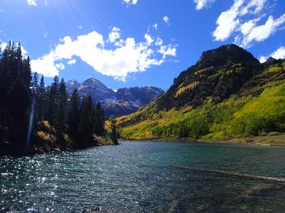 Maroon Bells Colorado Biking Vacation Wilderness Voyageurs