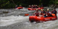 Guided rafting on Savage River