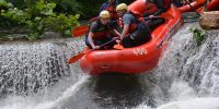 rafting the dam on savage river