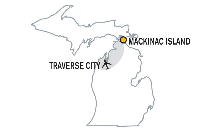 Michigan Cycling Tour Area Map from Wilderness Voyageurs Bike Tours