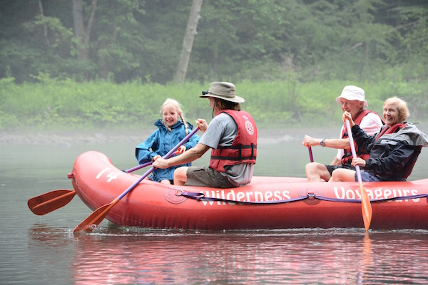 First time rafters and family rafting