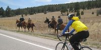 new mexico cycling by horses