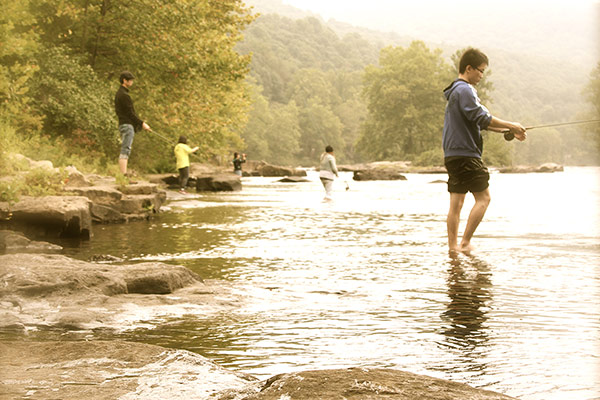 Ohiopyle Boy Scouts Fly Fishing Merit Badge