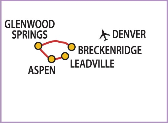 Colorado bike tour route
